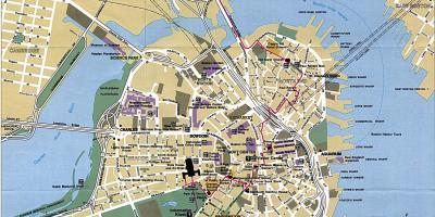 Boston Kort Kort Boston Usa